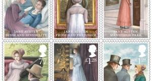 Пощенски марки в чест на Джейн Остин от 2013 г.