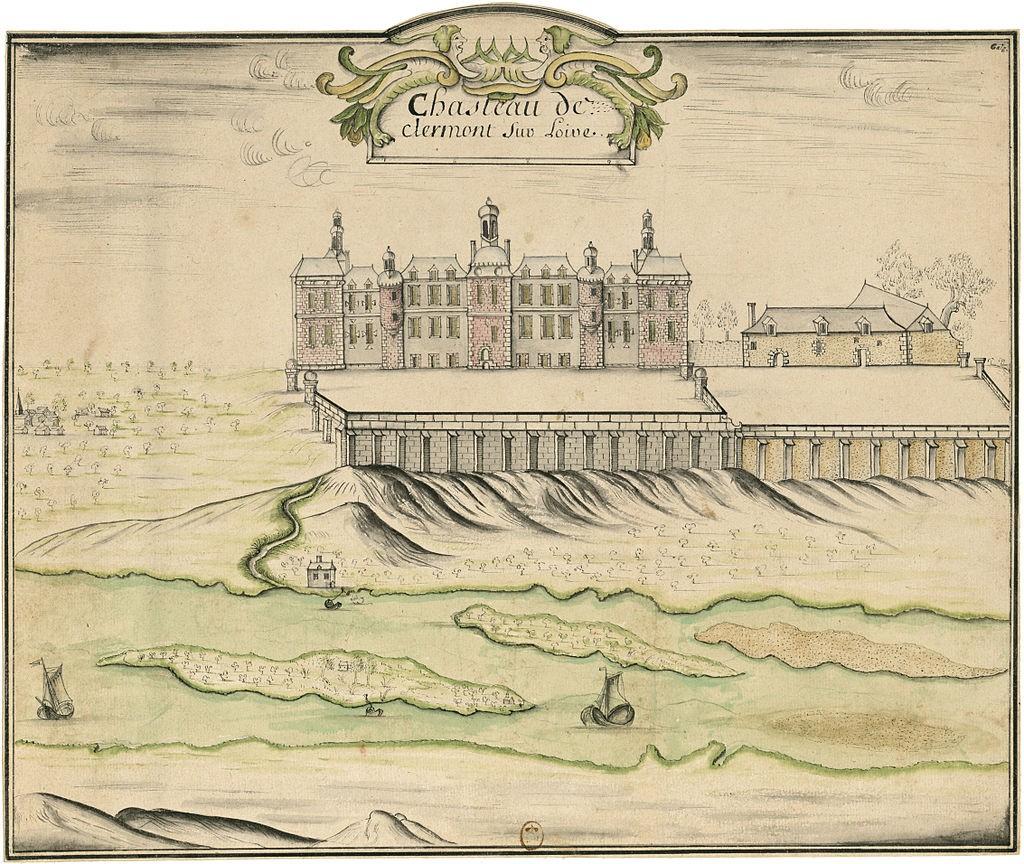 Château de Clermont през 17-18 век