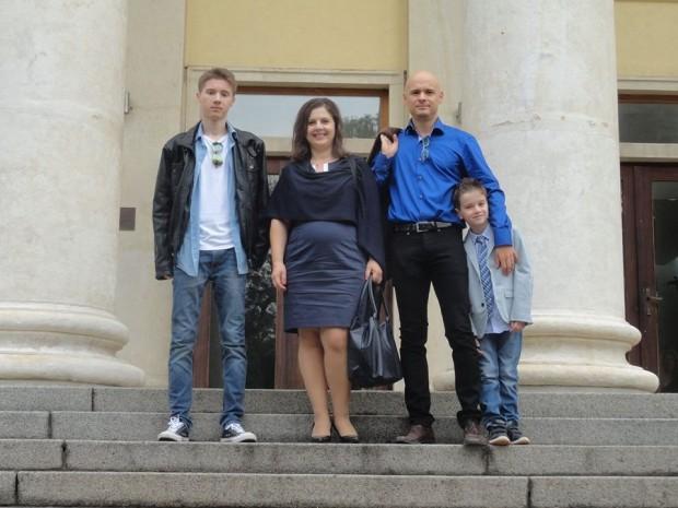 Нашето семейство в Американския колеж - 15 септ. 2014 г.
