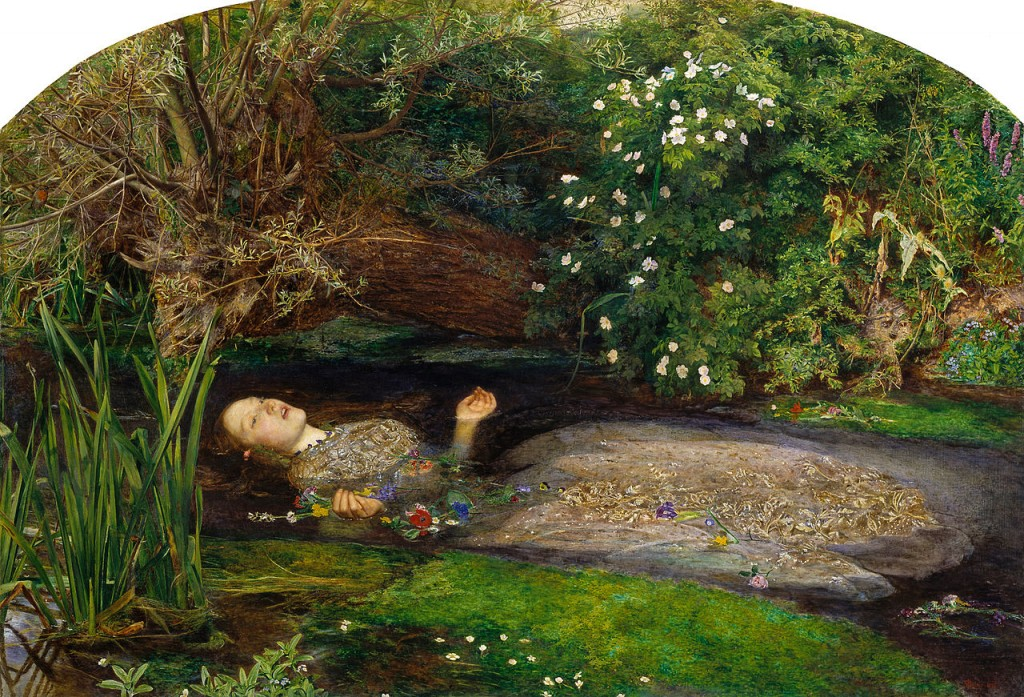 Офелия - Джон Евърет Миле, 1852