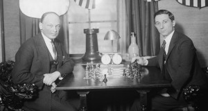 Savielly_Tartakower_and_Edward_Lasker