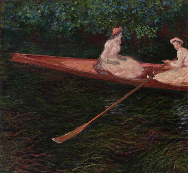 En canot sur l'Epte - Клод Моне източник: Уикипедия
