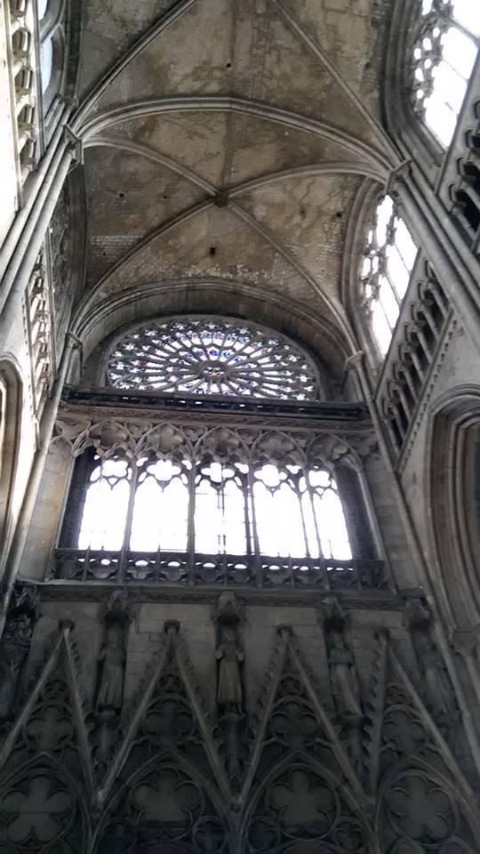 rouen catedrala rozeten prozorets