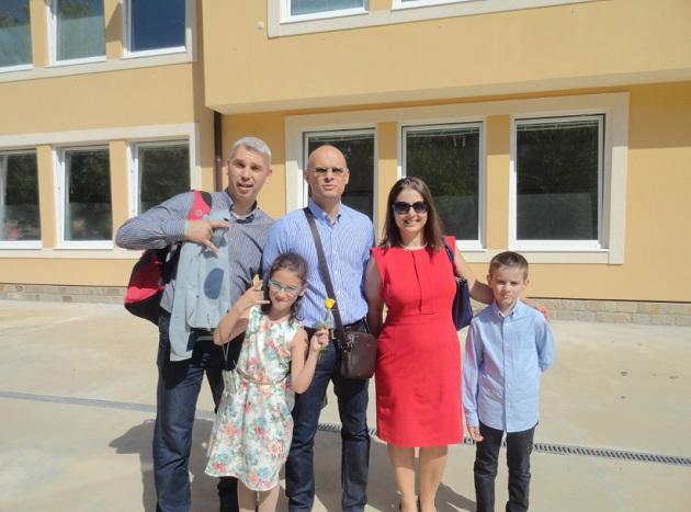 Нашето семейство: Милен, Ирина, Евгений, Дани, Вики