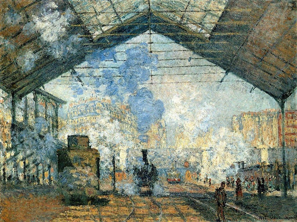 La Gare Saint-Lazare de Claude Monet. Картината е изложена в Музея д'Орсе източник: Уикипедия