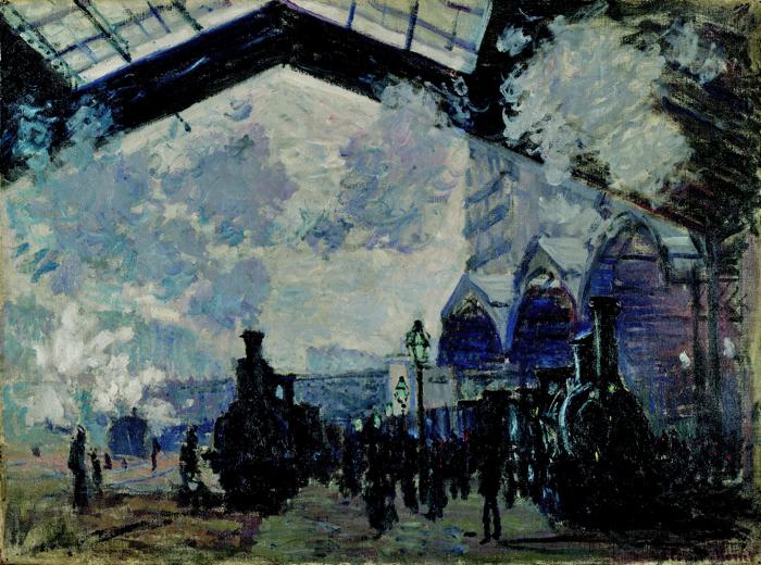 La Gare Saint-Lazare Картината се намира в Националната галерия - Лондон