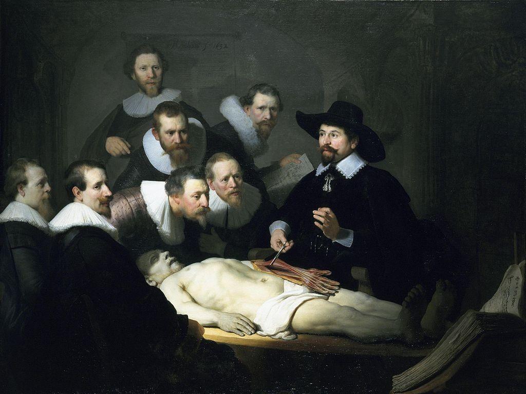 """Урок по анатомия на д-р Николаес Тьолп"" на Рембранд"