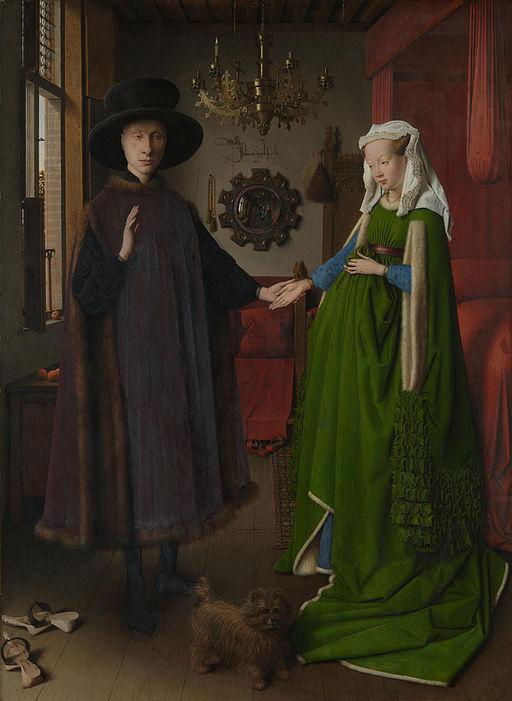 """""""Портрет на Джовани Арнолфини и съпругата му"""" (1434) - Ян ван Ейк"""