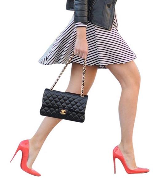 cherveni obuvki dama chanel