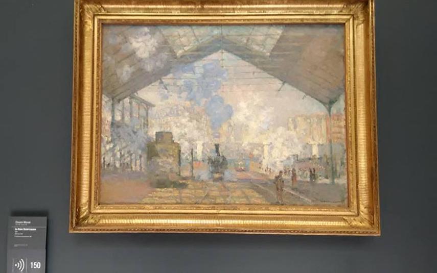 """Клод Моне - """"Гарата Сен Лазар""""  Картина е изложена в Музея д'Орсе в Париж."""