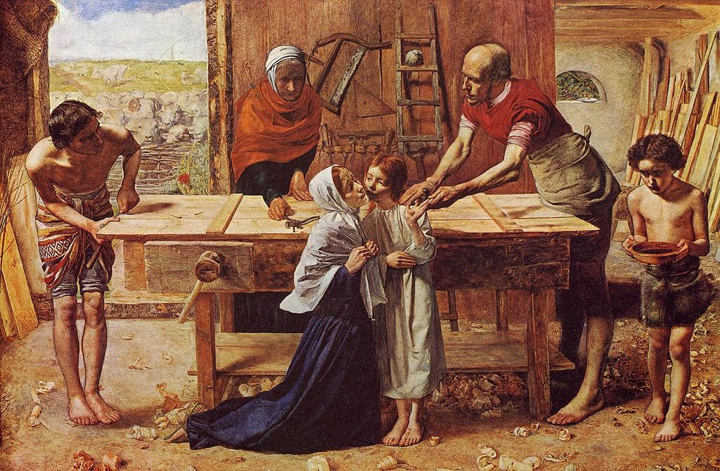 Христос в къщата на родителите си (1850) - Джон Миле