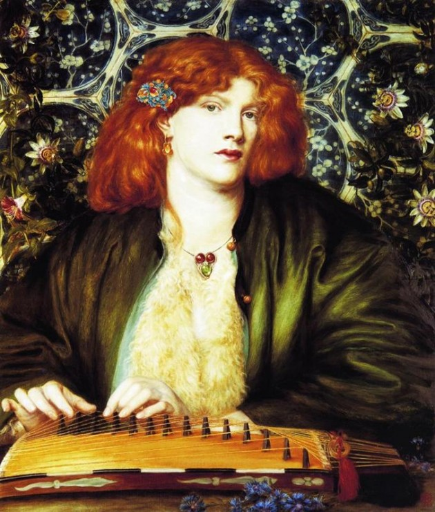 The Blue Bower (1865), Dante Gabriel Rossetti източник: wikiart.org