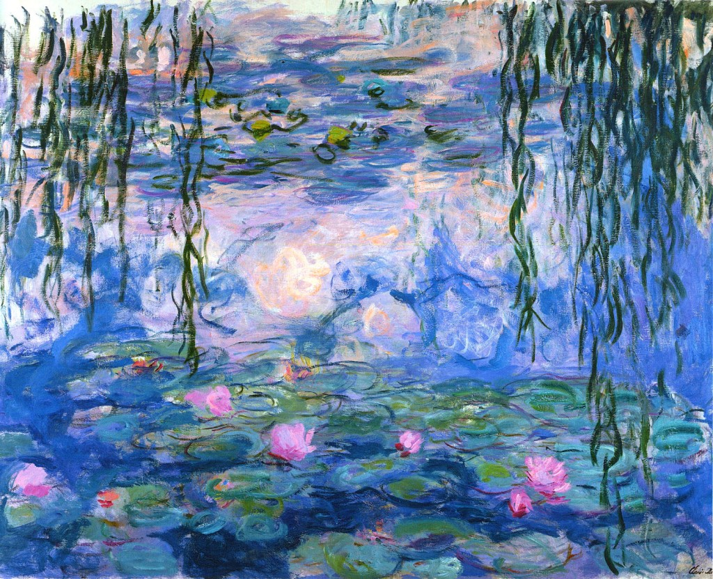 claude monet water-lilies-1919-1