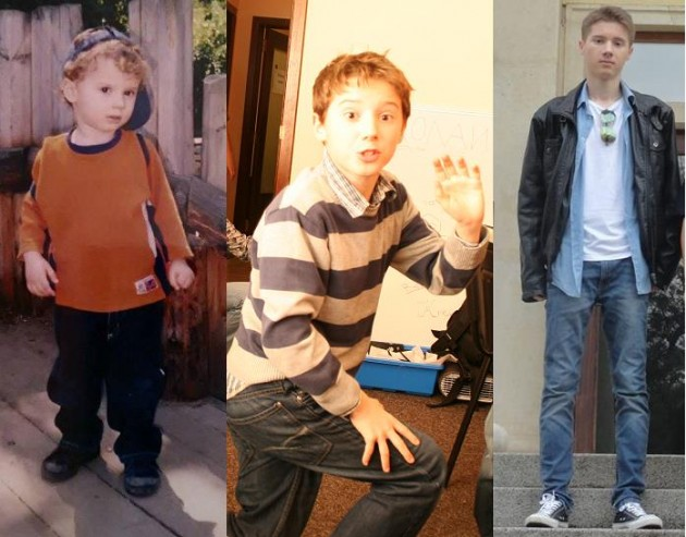Николай Благоев на 1 година, на 11 години и 14 години