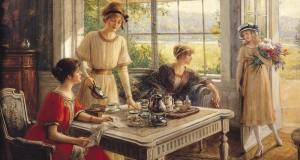 'Women Taking Tea' Albert Lynch,1851-1912