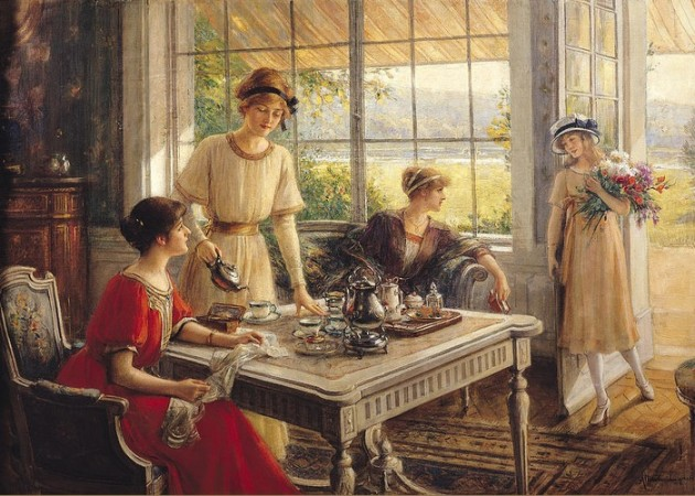 'Women Taking Tea' Albert Lynch,1851-1912