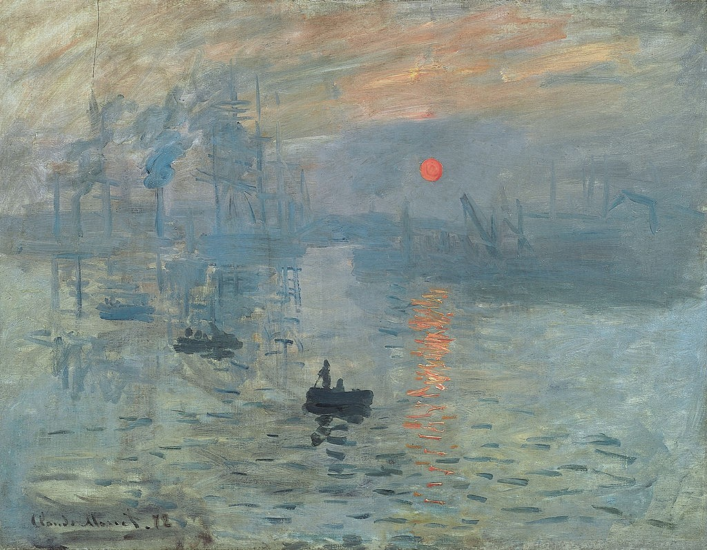 """""""Импресия, Изгряващо слънце"""", Клод Моне, 1872"""