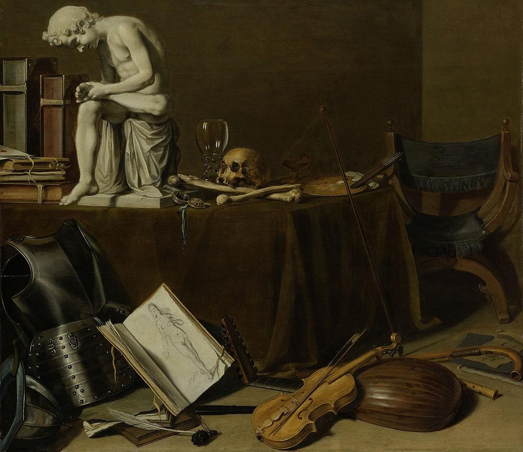 Vanitasstilleven met de Doornuittrekker Rijksmuseum Pieter Claesz