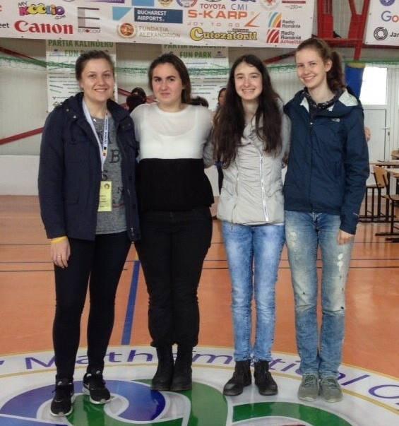 Българският национален отбор на Европейската олимпиада по математика за момичета 2016 г. източник: СМБ