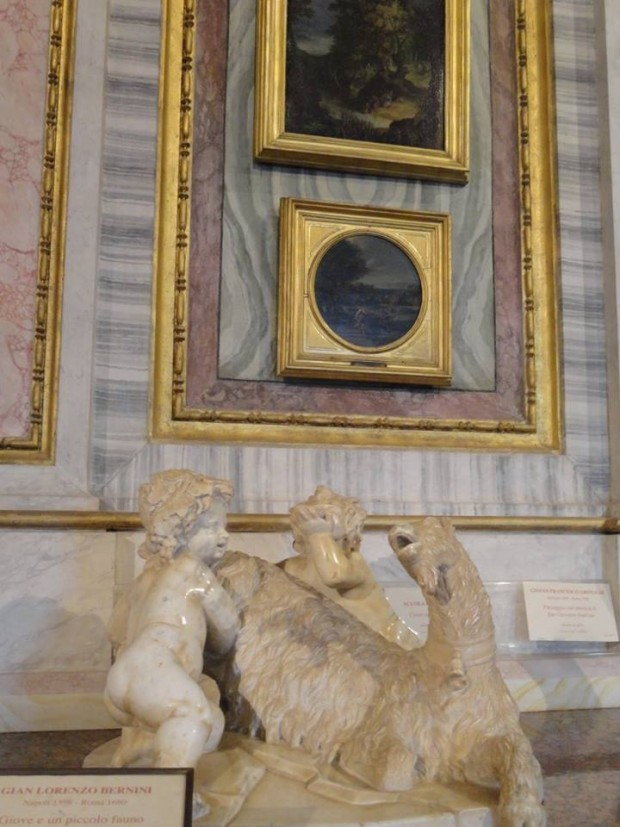 The Goat Amalthea with the Infant Jupiter and a Faun bernini borghese