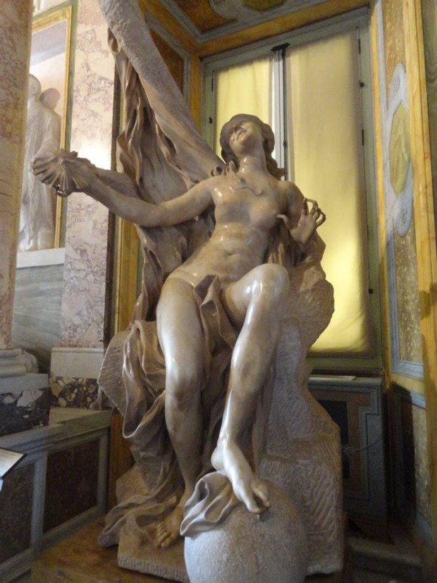 Truth Unveiled by Time bernini borghese