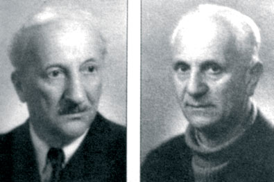 Акад. Методи Попов и акад. Кирил Попов източник: http://old.duma.bg/