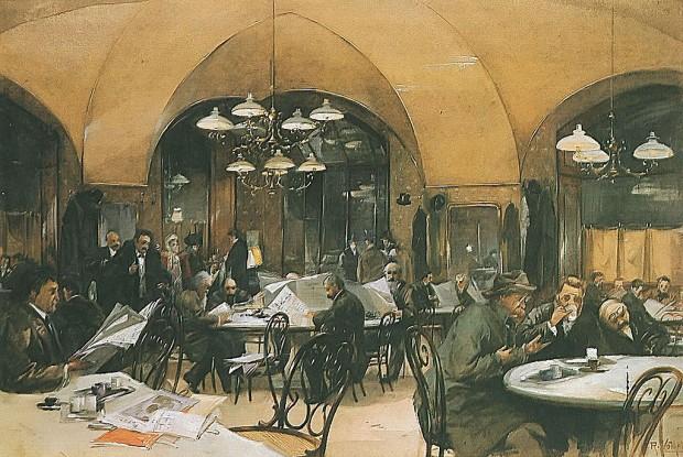 Café Griensteidl in Vienna Reinhold Völkel 1896