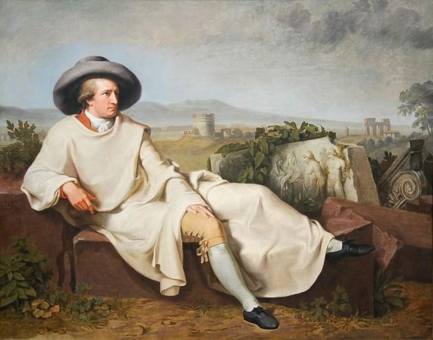 """Гьоте в Кампаня"" от Вилхелм Тишбайн (1787)"