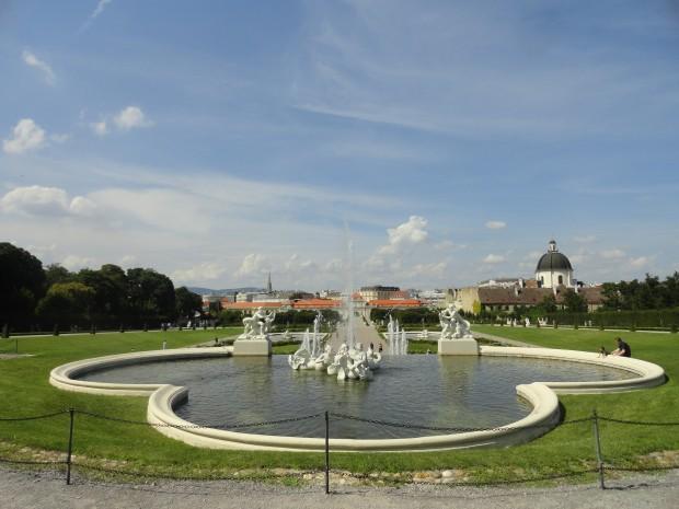 belvedere park fontan