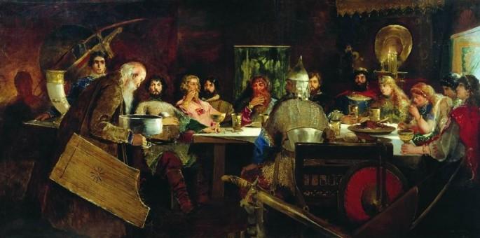 Пир на богатирите при любящия княз Владимир (1888)