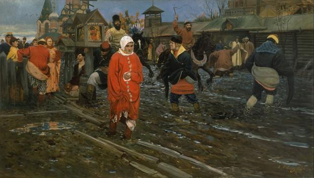 Московска улица през 17 век в празничен ден (1896)