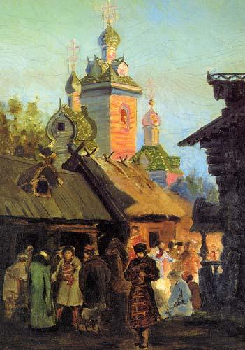 Улица в стара Москва (1890)
