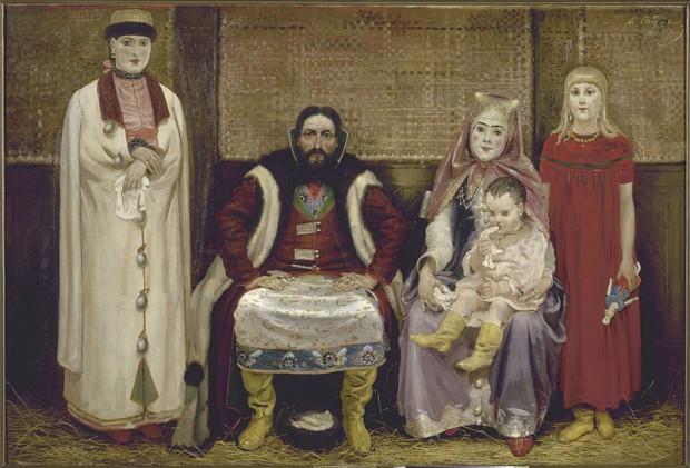 Семейство на търговец от 17 век (1896)