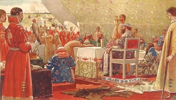 Пир на цар Алексей Михайлович с боляри
