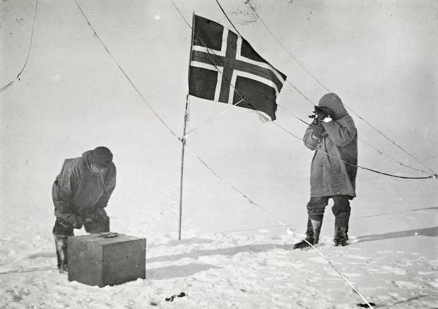 Амундсен на Южния полюс