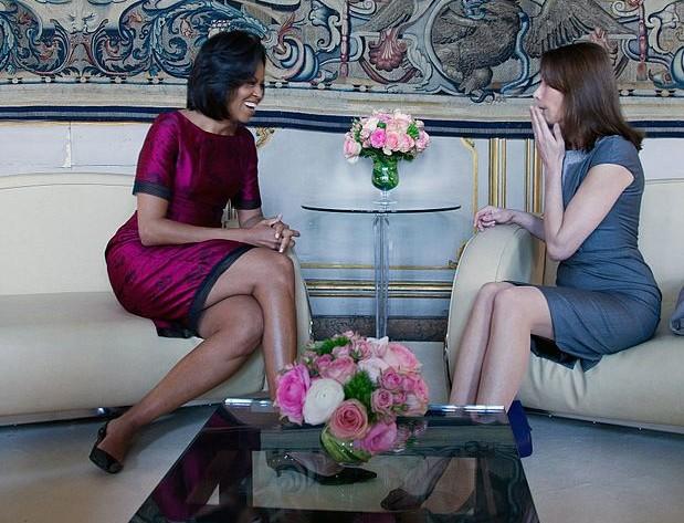 Мишел Обама и Карла Бруни