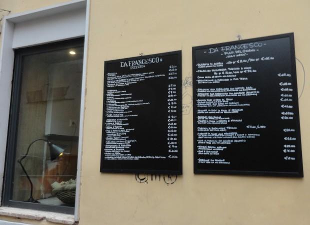 da francesco rome menu stena
