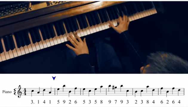 pi song piano