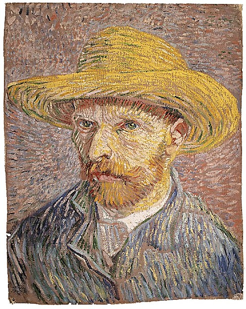 Self-Portrait with a Straw Hat Vincent van Gogh
