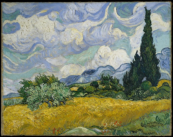 Wheat Field with Cypresses Vincent van Gogh