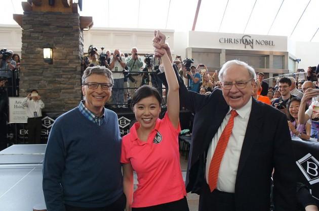 Бил Гейт и Уорън Бъфет  снимка: Michael Hsing/Wikipedia
