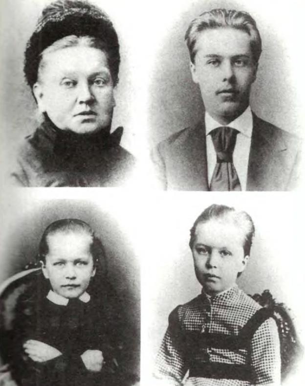 Руското семейство на Шлиман източник: Уикипедия