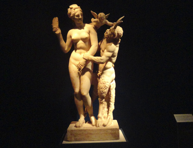 """Афродита, Пан и Ерос Кора и Курос Изложба """"Odysseys"""" - тематична ос """"Итака"""" - съюз на любовта"""