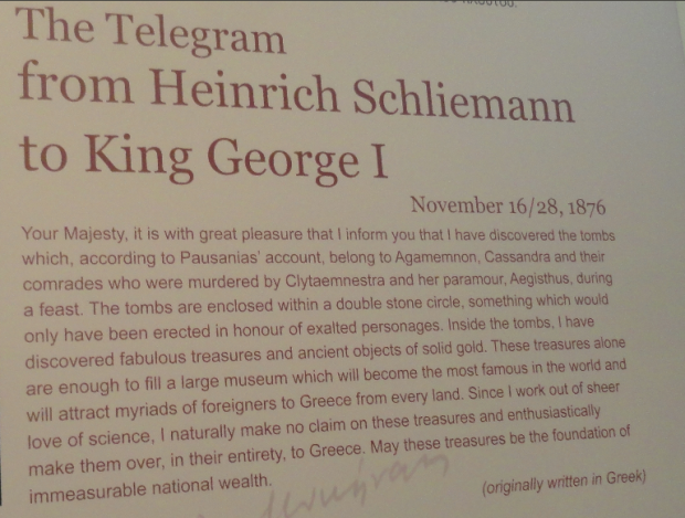 schliemann telegram