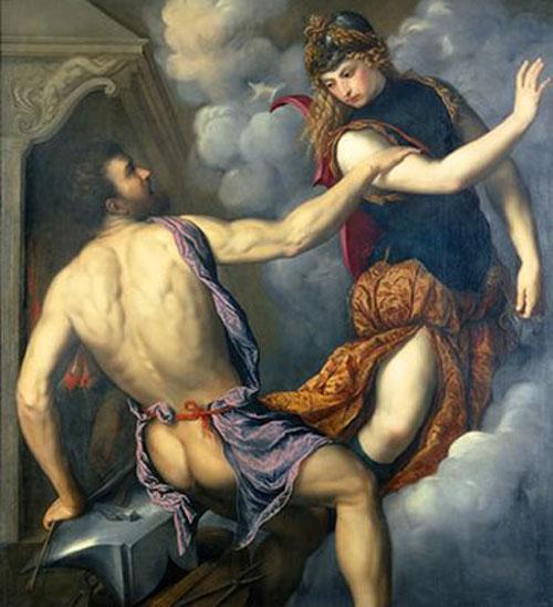 Хефест и Атина художник: Парис Бордоне ок. 1555-1560 г.