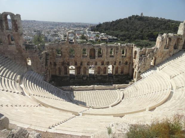 teatre na irod aticheski akropol atina