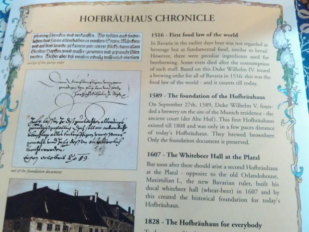Hofbräuhaus munchen istoria