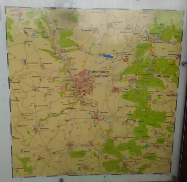 Rothenburg ob der Tauber 61 karta