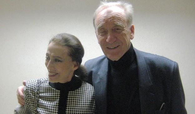 Мая Плисецкая и съпруга й композитора Родион Шчедрин