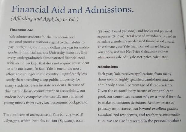 източник: брошурата на Йейл, представена на среща в Американския колеж в София